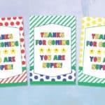 Free Printable Super Mario Thank You Gift Tags